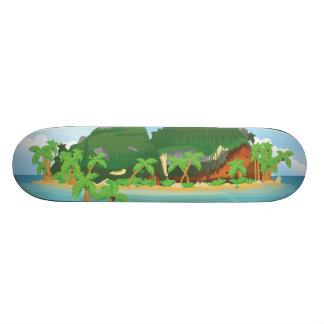 Tropical Treasure Island Skateboard Deck