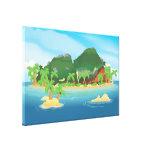 Tropical Treasure Island Stretched Canvas Print