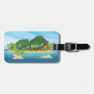 Tropical Treasure Island Travel Bag Tag