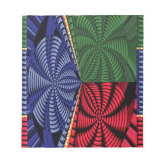 TROPICAL Tree Art Spiral Blink Vacation Trip FUN Note Pads