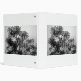 Tropical Tree Black and White in fog Binder