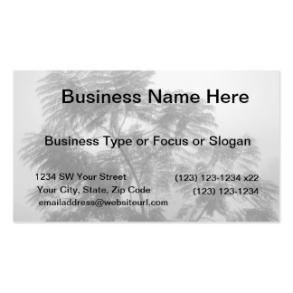Tropical Tree Black and White in fog Business Card