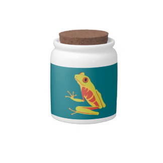 Tropical Tree Frog Candy Jar