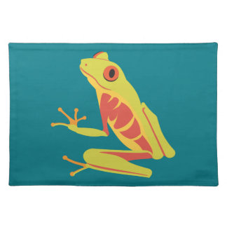 Tropical Tree Frog Cloth Placemat