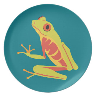 Tropical Tree Frog Dinner Plate