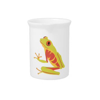 Tropical Tree Frog Drink Pitcher