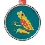 Tropical Tree Frog Metal Ornament