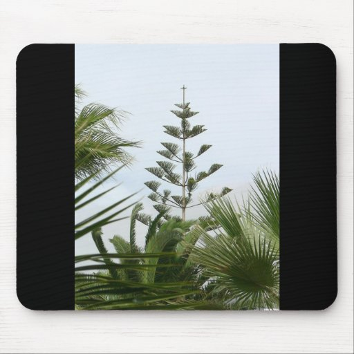 Tropical Trees Mouse Pad