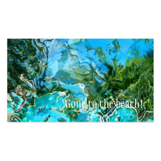 Tropical Turquoise Ocean Blue & Seaweed Green Double-Sided Standard Business Cards (Pack Of 100)