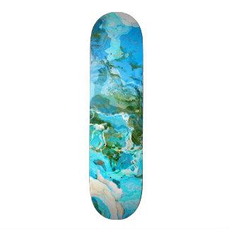 Tropical Turquoise Ocean Blue & Seaweed Green Skate Boards
