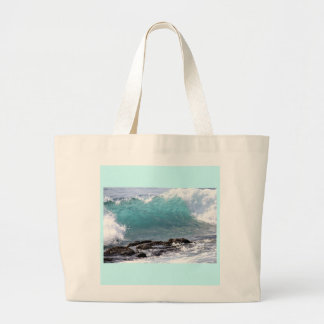 Tropical Turquoise Wave Tote Bag