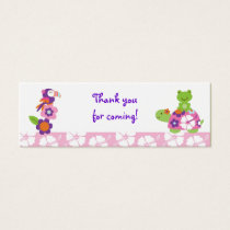 Tropical Turtle Frog Goodie Bag Tags Gift Tags