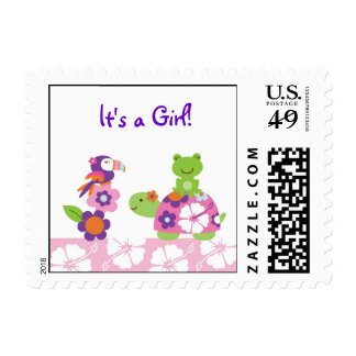 Tropical Turtle Frog Personalized Postage Stamps