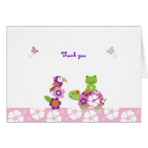Tropical Turtle Frog Thank You Note Cards