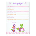 Tropical Turtle Frog Wishes for Baby Card Invites