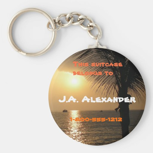 Tropical Twilight Sunset Key Chain