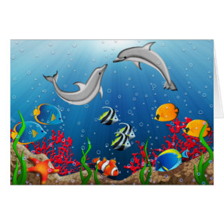 Tropical Underwater World Greeting Card