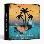 Tropical Vacation Album 3 Ring Binders