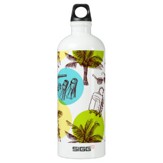 Tropical vacation aluminum water bottle
