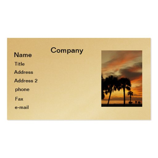 Tropical Vacation Business Card