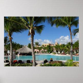 Tropical Vacation Destination Poster