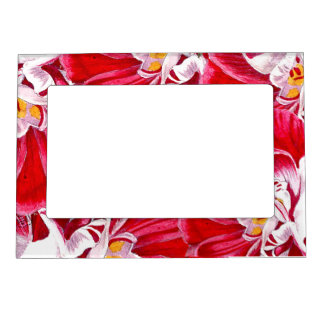 Tropical Vacation Memories Hothouse Flowers Fridge Magnetic Photo Frame