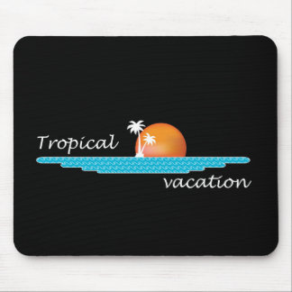 Tropical Vacation Mouse Pad