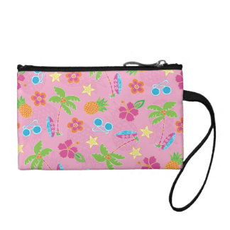 Tropical Vacation on Pink Pattern Change Purse