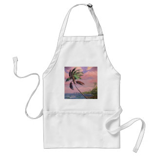 Tropical Vacation Palm Tree Adult Apron