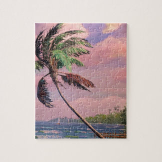 Tropical Vacation Palm Tree Jigsaw Puzzles
