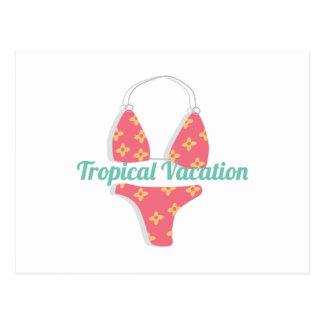 Tropical Vacation Postcard