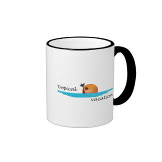 Tropical Vacation Ringer Coffee Mug