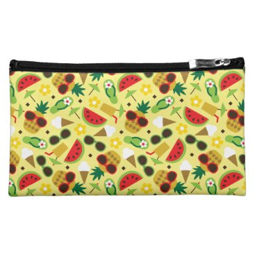 Tropical Vacation Seamless Pattern Makeup Bag