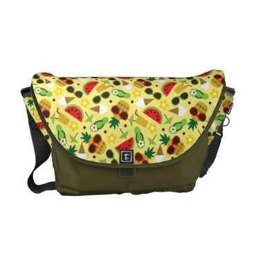 Tropical Vacation Seamless Pattern Messenger Bag