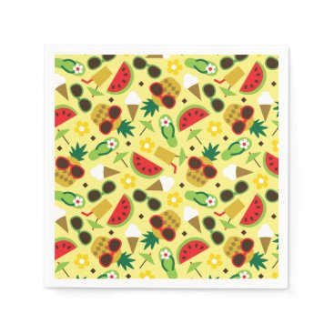 Tropical Vacation Seamless Pattern Napkin