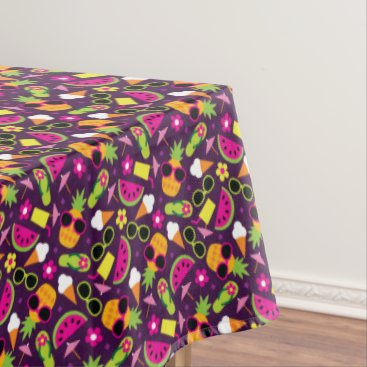 Beach Themed Tropical Vacation Seamless Pattern Tablecloth