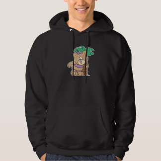 tropical vacation teddy bear girl cutie hoodie