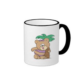 tropical vacation teddy bear girl cutie coffee mugs