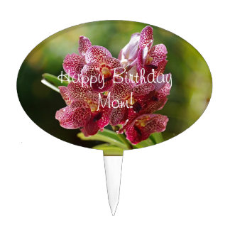 Tropical Vanda Orchid Cluster Cake Topper