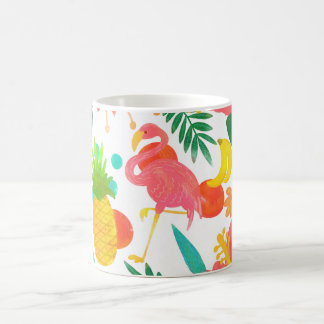 Tropical Vibes Floral Leaves Summer Chic Coffee Mug