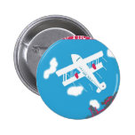 Tropical Vintage Air Travel 2 Inch Round Button