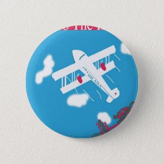Tropical Vintage Air Travel Button