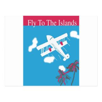 Tropical Vintage Air Travel Postcard