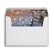 Tropical Vintage Beach String Lights Envelope