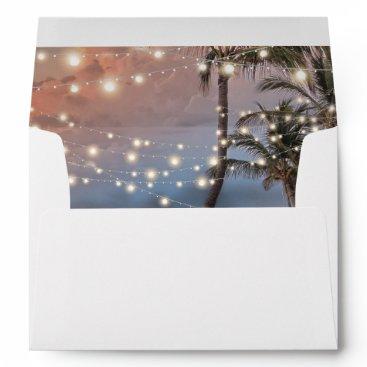 Wedding Themed Tropical Vintage Beach String Lights Envelope