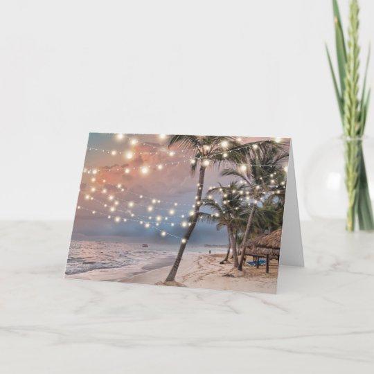 Wedding Ideas For Evening Reception: Tropical Vintage Beach Wedding Evening Reception