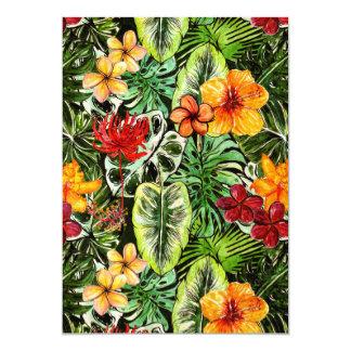 Tropical Vintage Exotic Jungle Flower Flowers Card