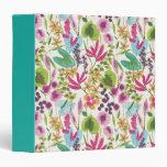 Tropical Vintage Floral Pattern Binder