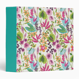 Tropical Vintage Floral Pattern Binder
