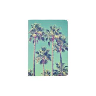 Tropical Vintage Palm Trees Passport Holder